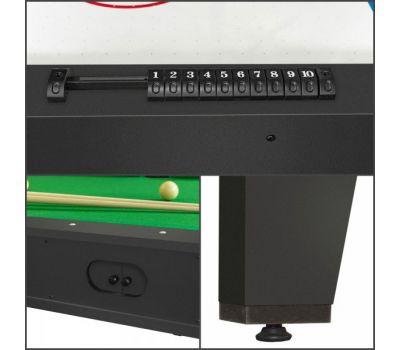 Cтол-трансформер Twister 3 в 1 (3 игры: бильярд, аэрохоккей, настольный теннис; 217 х 107,5 х 81 см; черный), фото 14