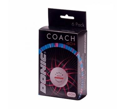 Мячики для н/тенниса DONIC 40+ Coach Ball пластик белые, фото 1