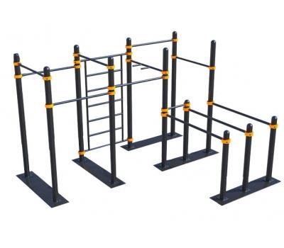 Мобильный спортивный комплекс  с лестницей, турниками и брусьями СВС-107, фото 1