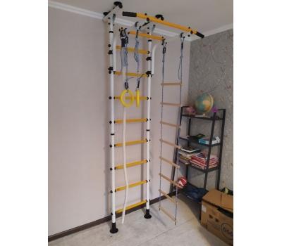 Детский спортивный комплекс ЮНЫЙ АТЛЕТ модель Пол-потолок белый/жёлтый, фото 1