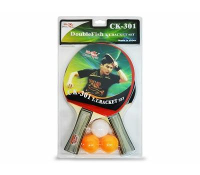 Набор DOUBLE FISH СК-301: 2 ракетки, 3 мяча