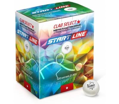 Мячики для н/тенниса CLUB SELECT 1*, 120 мячей в упаковке, белые START LINE