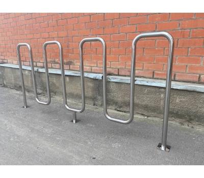 Велопарковка «Квадро» из нержавеющей стали, фото 6