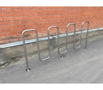 Велопарковка «Квадро» из нержавеющей стали, фото 2