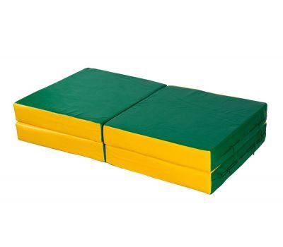 Мат № 11 (100 х 100 х 10) складной 4 сложения сине/жёлтый, фото 5
