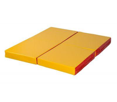 Мат № 11 (100 х 100 х 10) складной 4 сложения красно/жёлтый, фото 2