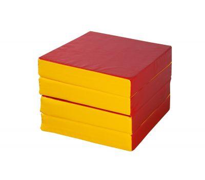 Мат № 11 (100 х 100 х 10) складной 4 сложения сине/жёлтый, фото 4