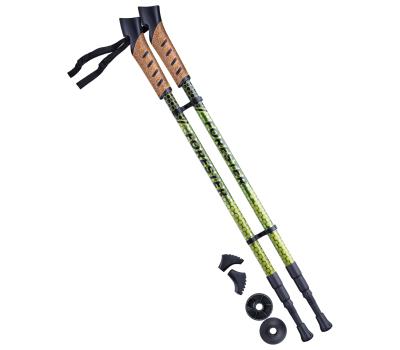 Палки для скандинавской ходьбы Forester, 67-135 см, 3-секционные, болотный/жёлтый, фото 1